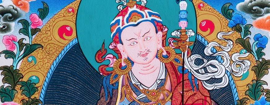 Thangkas of deities painted by hand