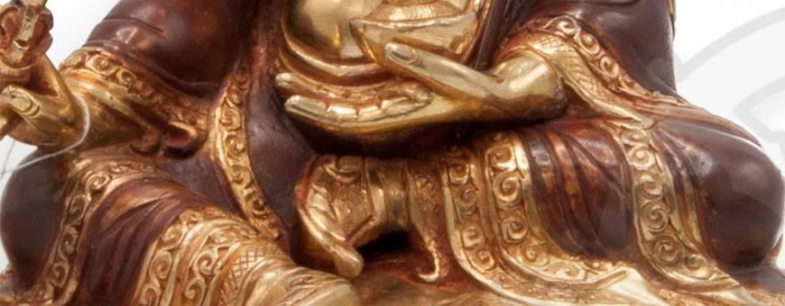 Statues Plaquées or 24k (partiel) pour les pratiques de visualisation, bouddhisme, rituel, deite