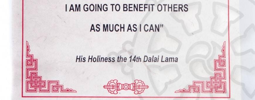Papeterie - Lokta Lamali Rouleaux - Citations du Dalai Lama, 2019