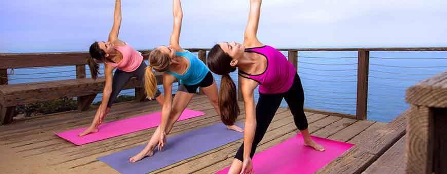 Productos y accesorios para yoga y diversas disciplinas de bienestar, 2019.