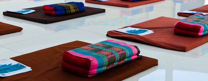 All types of cushions for meditation practice