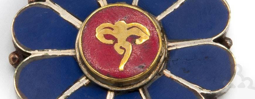 Bijoux Pendentifs homme-femme Himalaya nature or argent pierres