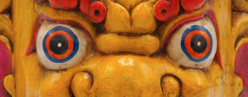 Masques protecteurs - sculpture bois naturel, 2019