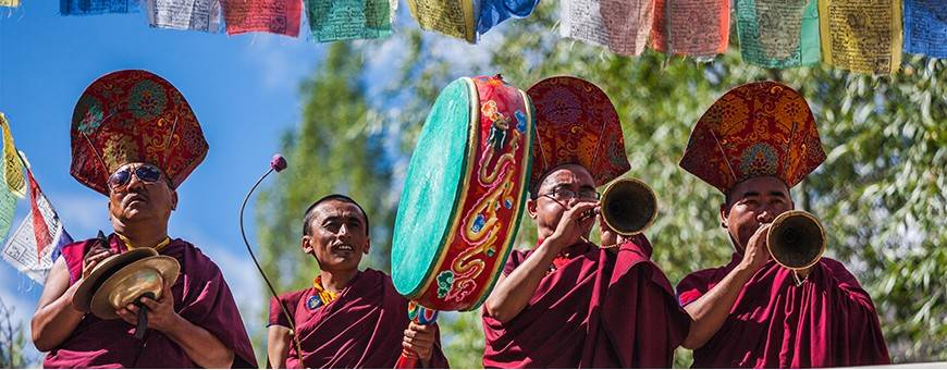Buddhist centers musical instruments