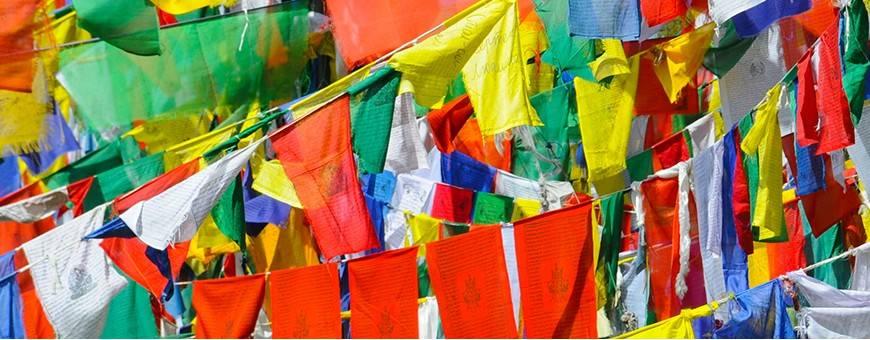 Boeddhistische centra Tibetaanse vlaggen, 2019