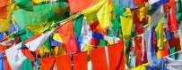 Buddhist centers Tibetan flags