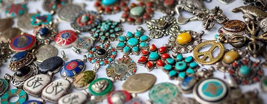 Juwelen dames - heren Himalaya natuur goud zilver stenen, 2019