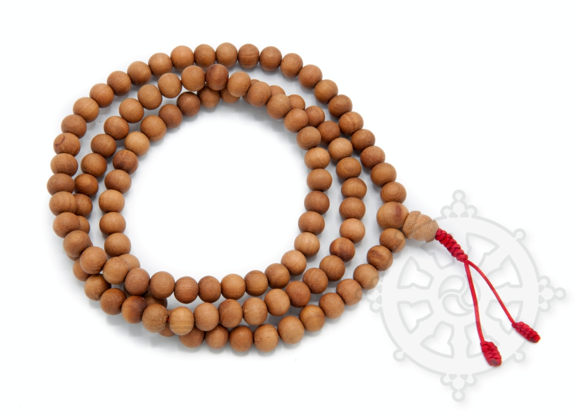 108 beads mala in Santal wood.