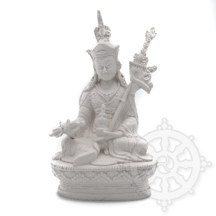 Guru Rinpoche in white resin